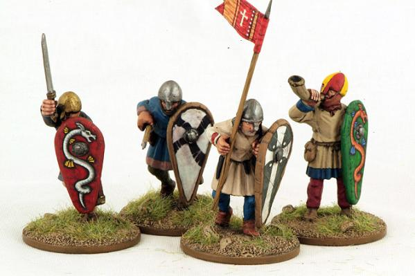 28mm Ancients: (Viking Age) Norman Unarmoured Infantry Command #1 (4)