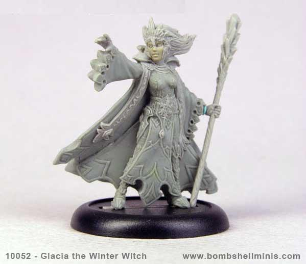 Bombshell Miniatures: Glacia The Winter Witch