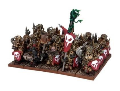 Kings Of War, 2nd Edition: (Abyssal Dwarf) Immortal Guard Regiment (4)