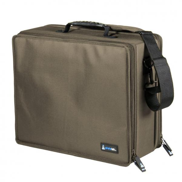 Pirate Labs: Olive Drab Large Case (Armor Tray, Large 3-Row, Black + 8 Dividers)