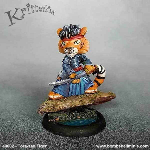 Bombshell Miniatures: Kritterkins - Tora-san Tiger