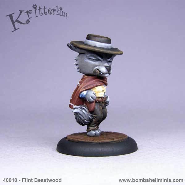 Bombshell Miniatures: Kritterkins - Flint Beastwood