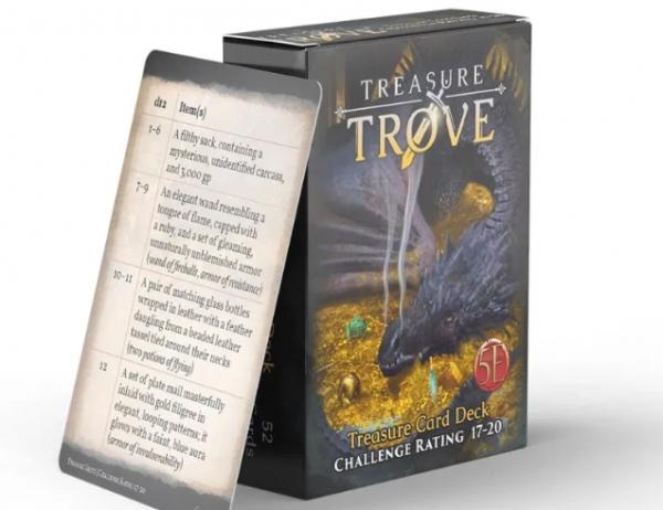 RPG Accessory: Treasure Trove CR 17-20 Deck (5E)