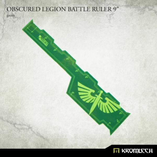 """Kromlech Accessories: Obscured Legion Battle Ruler 9"""" [green]"""