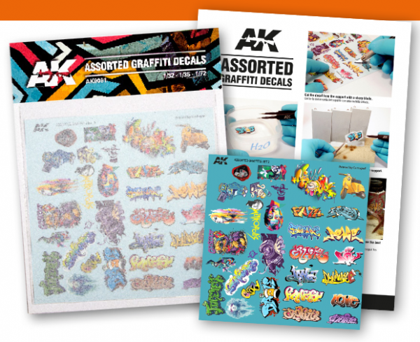 AK-Interactive: Assorted Graffiti Decals