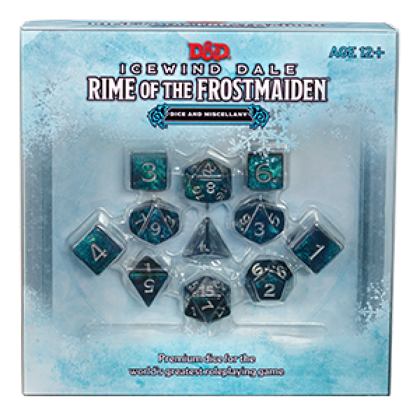 D&D: Icewind Dale: Rime of the Frostmaiden Dice and Miscellany