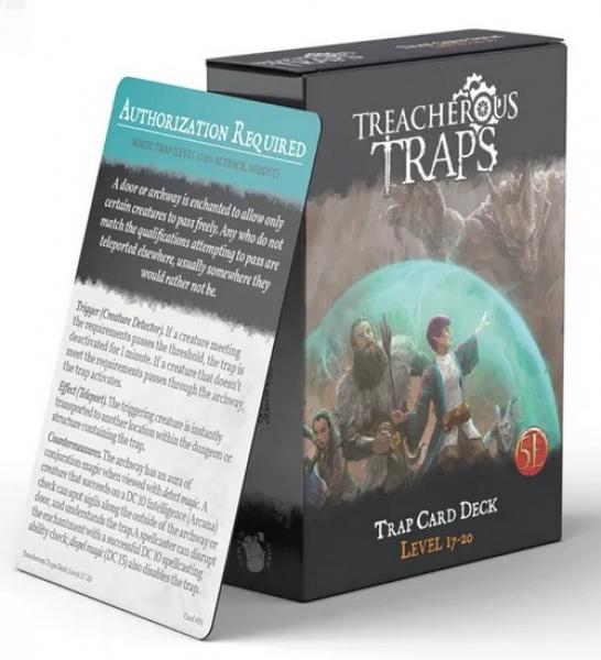 RPG Accessory: Treacherous Traps CR 17-20 Deck (5E)