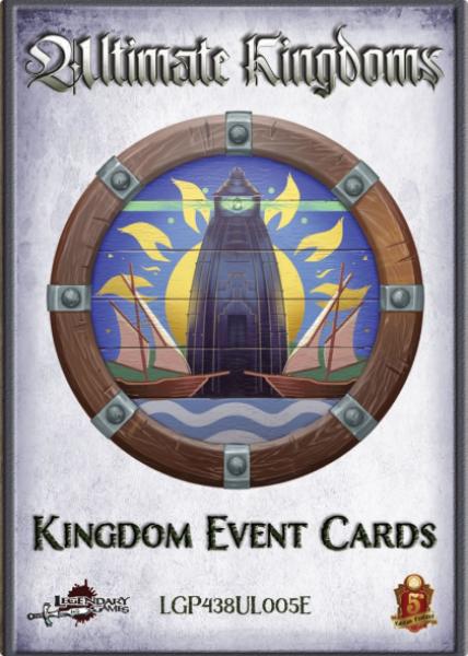 RPG Accessory: Kingdom Event Card Deck (5E & Pathfinder (P2E) Compatible)