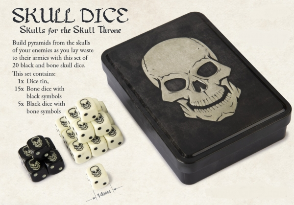Skull Dice d6 Set with Collector Tin