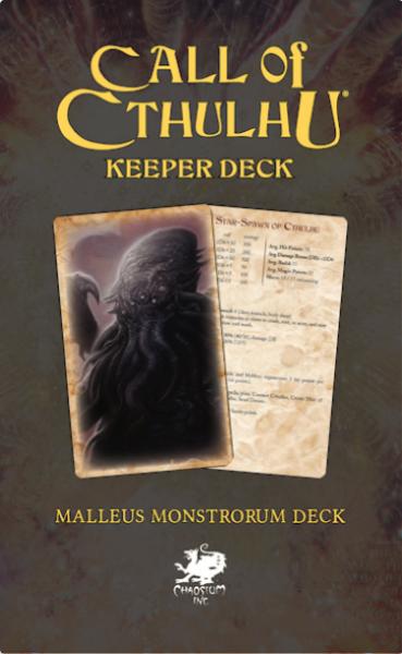 Call Of Cthulhu: The Malleus Monstrorum Keeper Deck