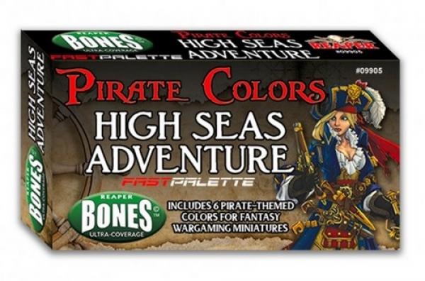 Reaper Fast Palette Paint Set: Pirate Colors - Seas of Adventure (6)