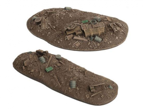 Flames of War: Battlefield in a Box - Ruined City Rubble Piles (2)