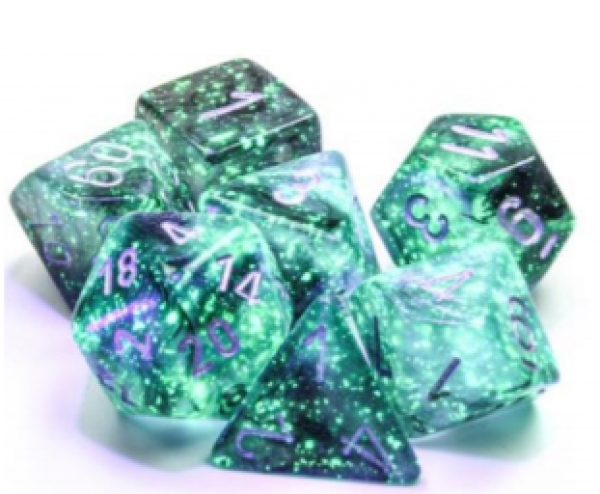 Chessex Borealis Polyhedral Light Smoke/silver Luminary 7-Die Set