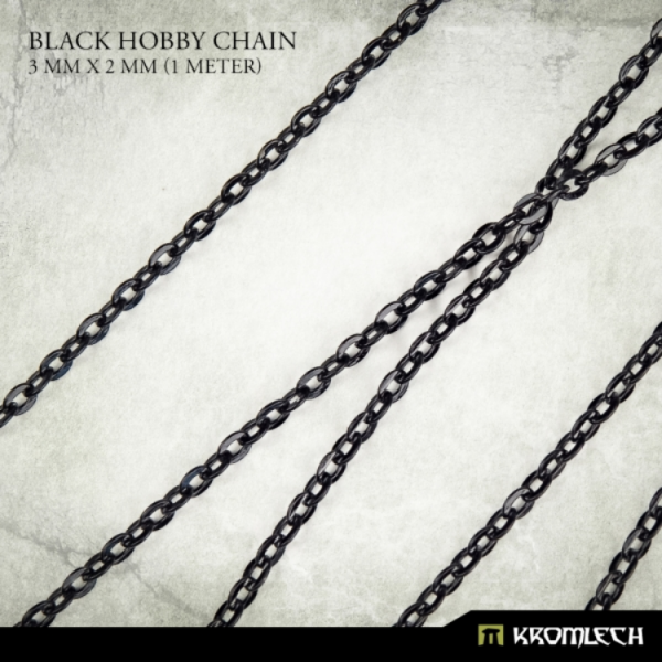 Accessories: Black Hobby Chain 3mm x 2mm (1 meter)
