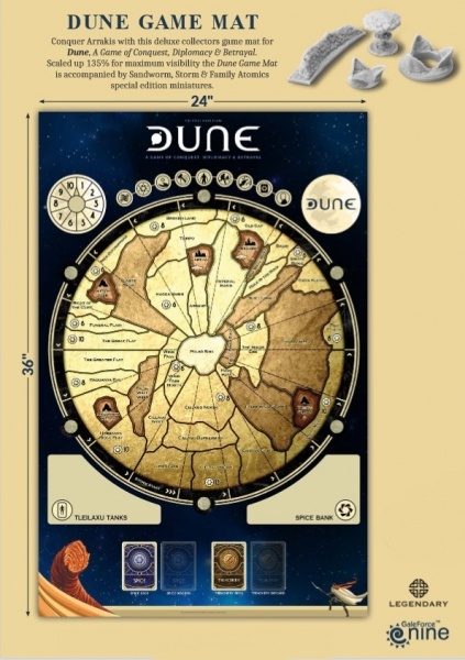 Dune Board Game: Game Mat with Special Edition Miniatures