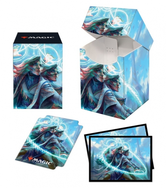 Magic: C21 PRO 100+ Deck Box and 100ct Sleeves - Adrix and Nev, Twincasters featuring Quandrix