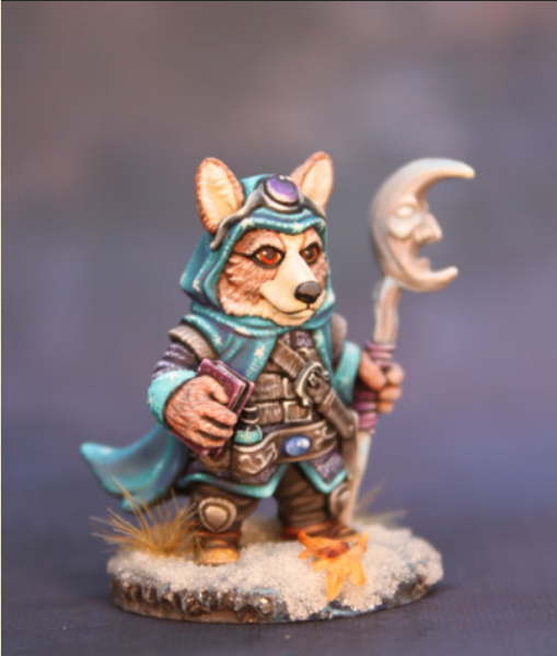 Critter Kingdoms: Corgi Mage with Staff