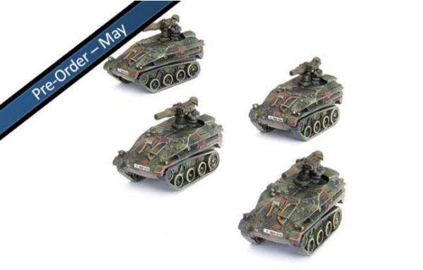 Team Yankee: (German) Wiesel TOW Panzerabwehr Zug (x4)